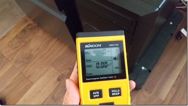 パソコンから10cm離した電磁波